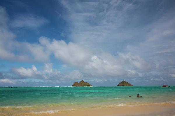 Away From It All Wall Art - Photograph - Usa, Hawaii, Oahu, Lanikai Beach by Terry Eggers