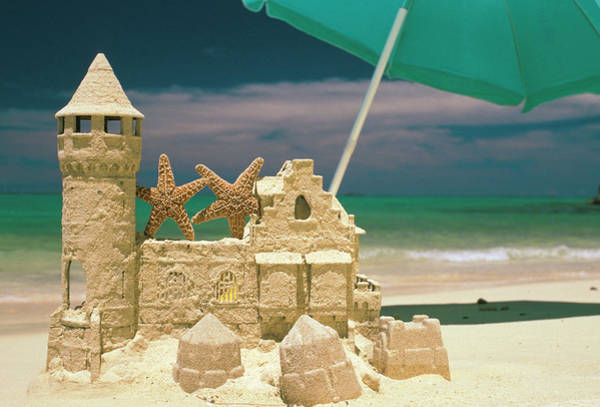 Wall Art - Photograph - Usa, Hawaii Sandcastle And Starfish by Sunstar