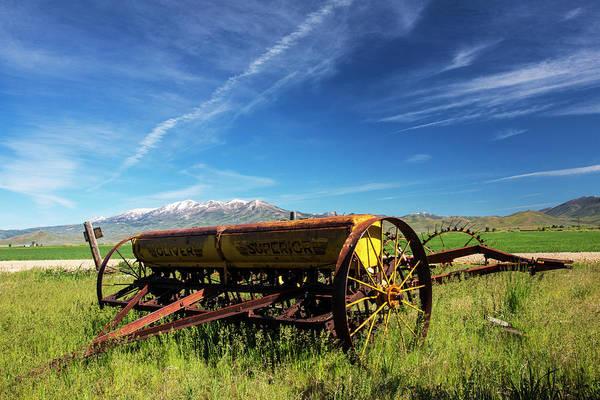 Fairfield Photograph - Usa, Idaho, Fairfield, Horse Drawn Hay by Terry Eggers