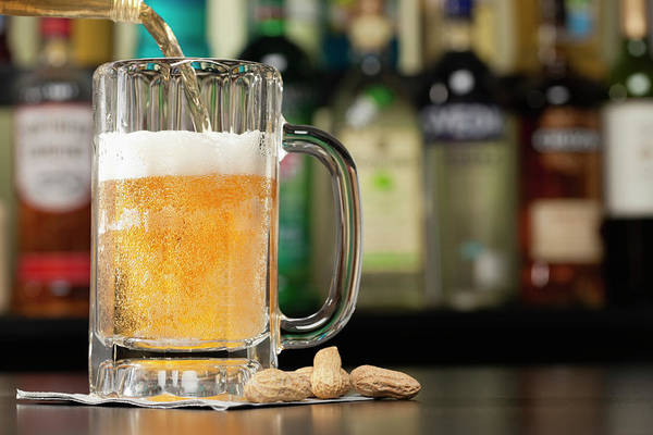 Lager Photograph - Usa, Illinois, Metamora, Pouring Lager by Vstock Llc