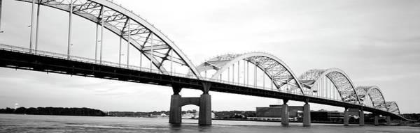 Centennial Bridge Photograph - Usa, Iowa, Davenport, Centennial Bridge by Panoramic Images