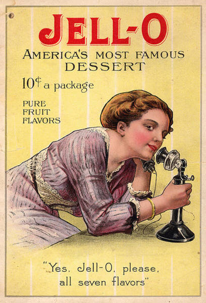 Wall Art - Photograph - Usa Jell-o Magazine Advert by The Advertising Archives
