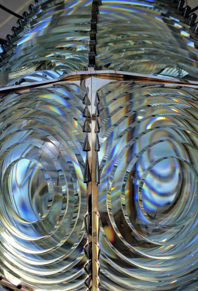 Fresnel Lens Wall Art - Photograph - Usa, Lighthouse Lens, Oregon by Gerry Reynolds