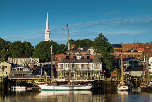 Camden Photograph - Usa, Maine, Camden, Camden Harbor, Dawn by Walter Bibikow