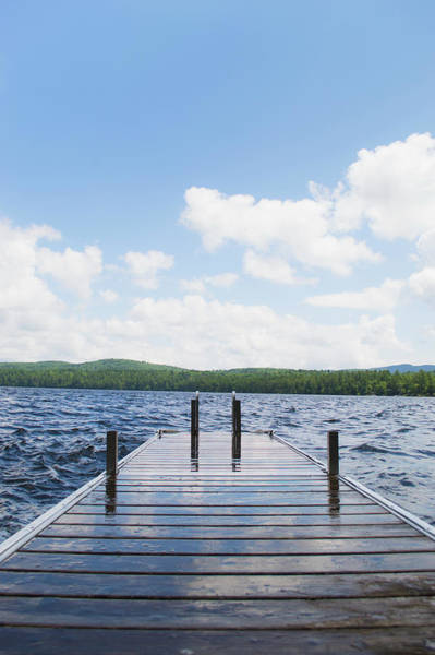 Camden Photograph - Usa, Maine, Camden, View Of Lake With by Daniel Grill