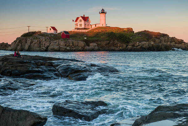Wall Art - Photograph - Usa, Maine, York, Nubble Light by Walter Bibikow