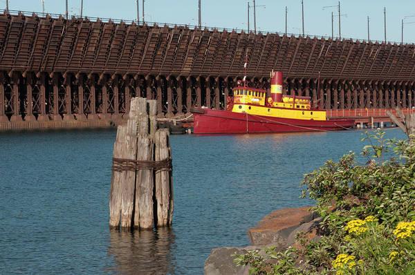 Lake Superior Photograph - Usa, Minnesota, Two Harbors, Edna G by Peter Hawkins