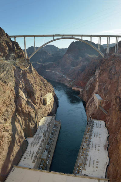 Wall Art - Photograph - Usa, Nevada, Hoover Dam And The Mike by Kevin Oke