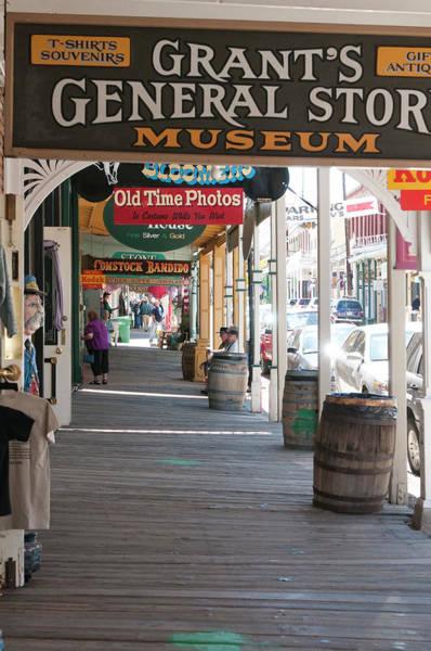 Virginia City Photograph - Usa, Nevada Sidewalk In Historic by Michael Defreitas