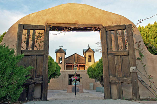 Adobe Photograph - Usa, New Mexico, Chimayo, The Chimayo by Luc Novovitch