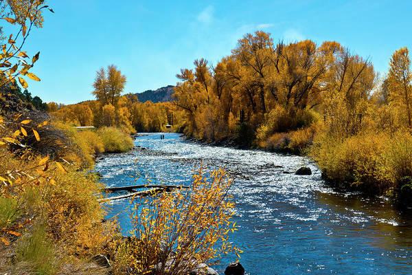 Chama Photograph - Usa, New Mexico, Fall Along Rio Chama by Bernard Friel
