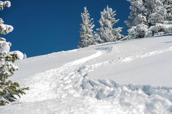 Ski Tracks Wall Art - Photograph - Usa, New Mexico, Santa Fe, Winter Sports by Lee Klopfer