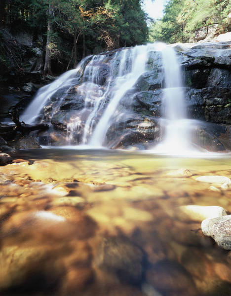 Adirondack Mountains Wall Art - Photograph - Usa, New York, A Waterfall by Jaynes Gallery