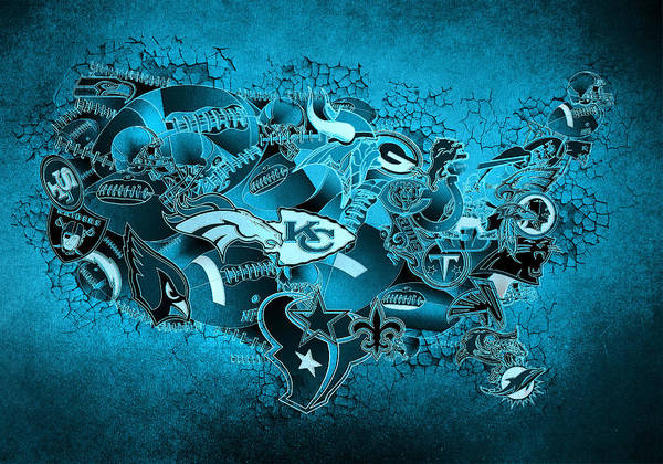 Stitch Painting - Usa Nfl Map Collage 13 by Bekim Art