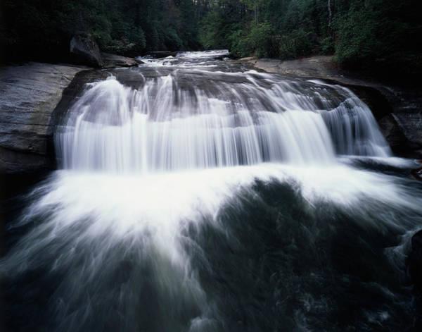 Nantahala Photograph - Usa, North Carolina, Turtleback Falls by Jaynes Gallery
