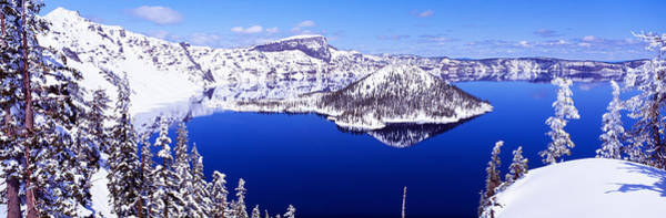 Wintry Photograph - Usa, Oregon, Crater Lake National Park by Panoramic Images