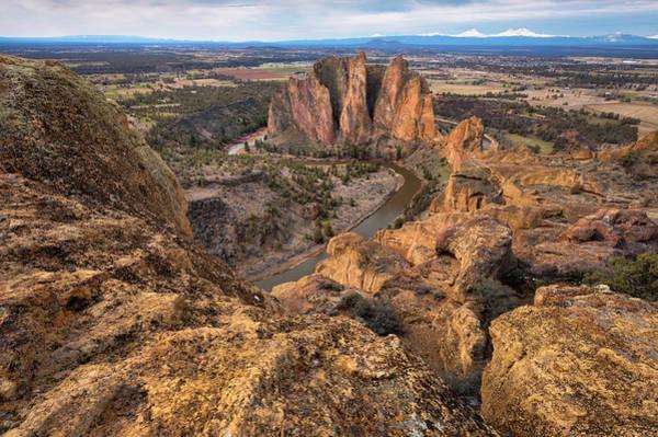 Deschutes River Photograph - Usa, Oregon, Deschutes County, Rocky by Gary Weathers