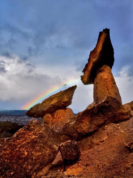 Balancing Rocks Photograph - Usa, Oregon, Jefferson County by Jaynes Gallery