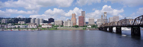 Willamette Photograph - Usa, Oregon, Portland, Willamette River by Panoramic Images