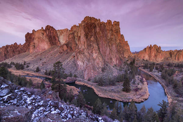 Crooked River Photograph - Usa, Oregon, Smith Rock State Park by Brent Bergherm