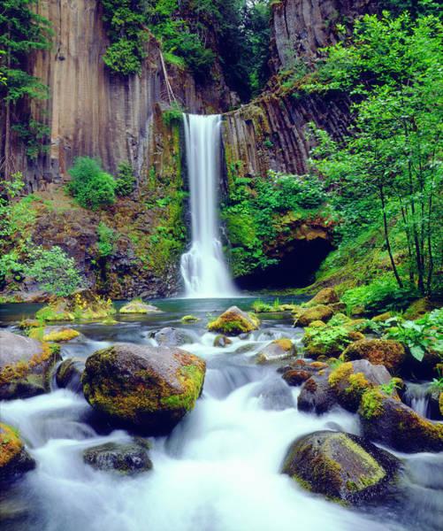 Oregon Ridge Photograph - Usa, Oregon, Toketee Waterfall by Jaynes Gallery
