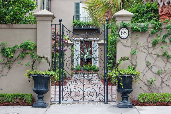 Architectural Details Photograph - Usa, Sc, Charleston, Historic District by Rob Tilley
