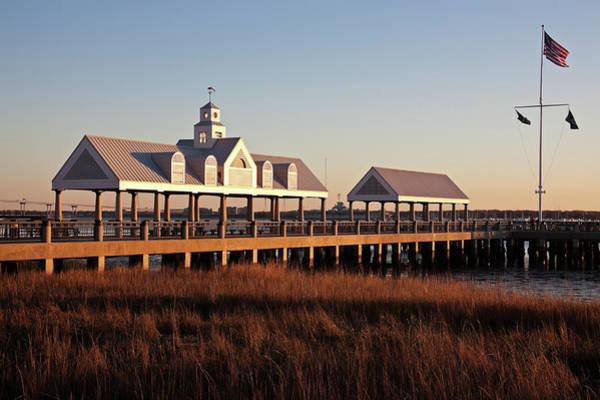 South Carolina Photograph - Usa, South Carolina, Charleston, Pier by Henryk Sadura