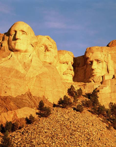 Thomas Jefferson Photograph - Usa, South Dakota, Keystone, View by Walter Bibikow