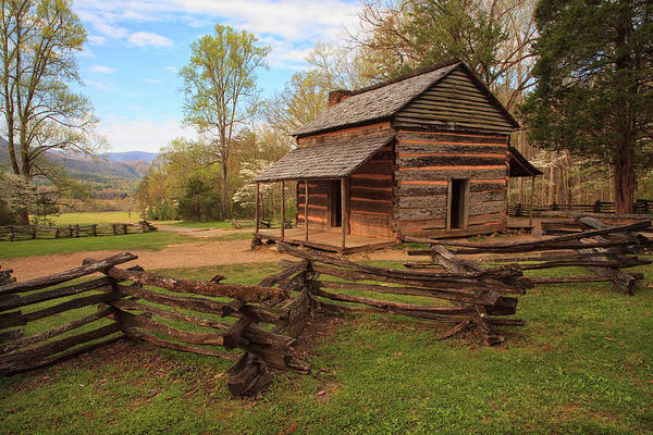 John Oliver Cabin Photograph - Usa, Tennessee, Great Smoky Mountain by Joanne Wells