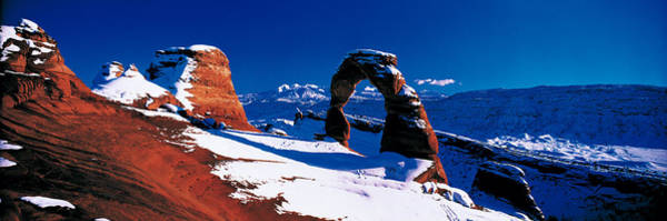 Geologic Formation Photograph - Usa, Utah, Delicate Arch, Winter by Panoramic Images
