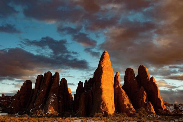 Fins Photograph - Usa, Utah Sandstone Fins by Judith Zimmerman