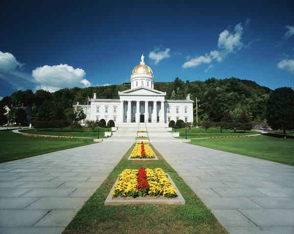 Capitol Building Photograph - Usa, Vermont, Montpelier, Vermont State by Walter Bibikow