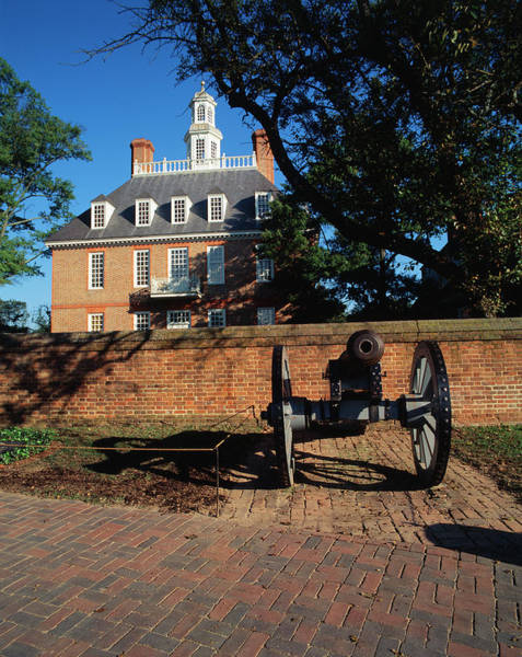 Williamsburg Photograph - Usa, Virginia, Williamsburg, Cannon by Walter Bibikow