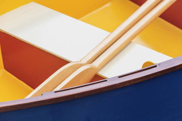 Paddle Boats Photograph - Usa, Washington Boat Detail by Jaynes Gallery