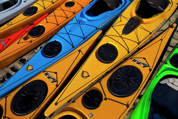 Kayaks Wall Art - Photograph - Usa, Washington State by Gary Luhm