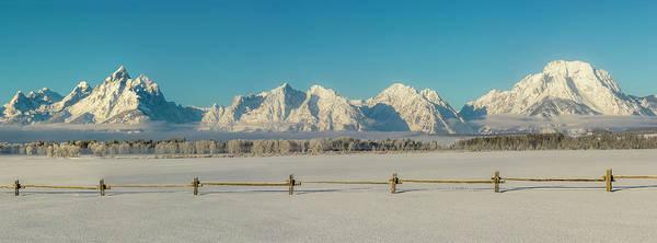 Mount Moran Photograph - Usa, Wyoming Grand Teton National Park by George Theodore