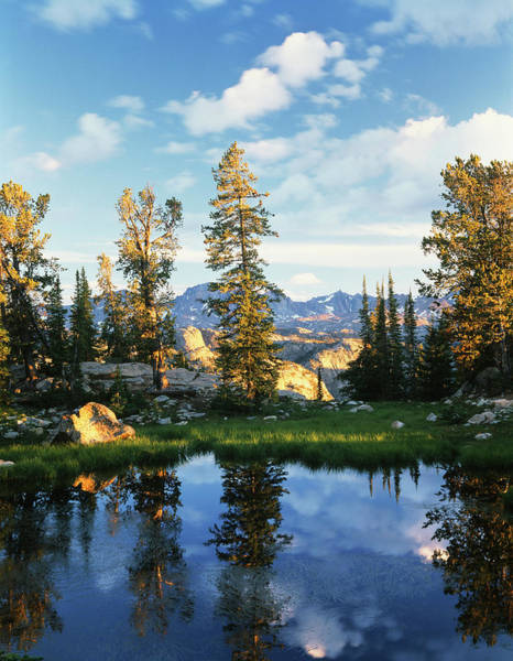 Wind River Range Wall Art - Photograph - Usa, Wyoming, Landscape With Reflection by Scott T. Smith
