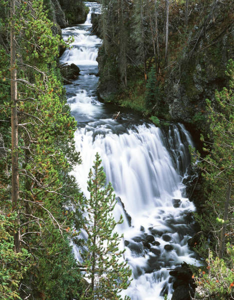 Firehole River Wall Art - Photograph - Usa, Wyoming, View Of Kepler Cascades by Scott T. Smith