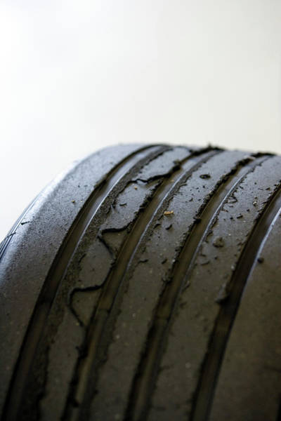 Tyre Wall Art - Photograph - Used Formula One Car Tyres by Gustoimages/science Photo Library