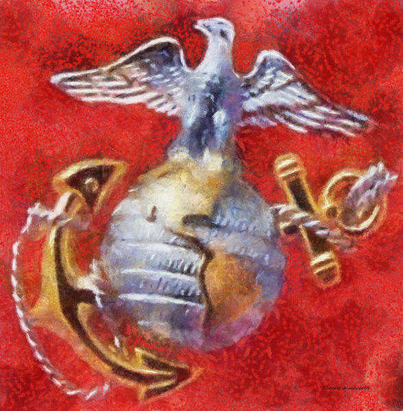 Wall Art - Photograph - Usmc Emblem Photo Art by Thomas Woolworth