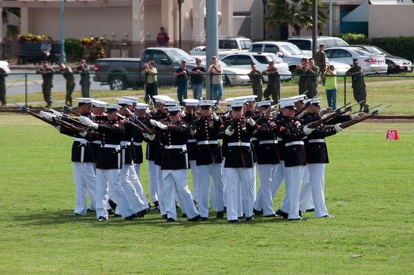 Photograph - Usmc Silent Drill Platoon by Dan McManus
