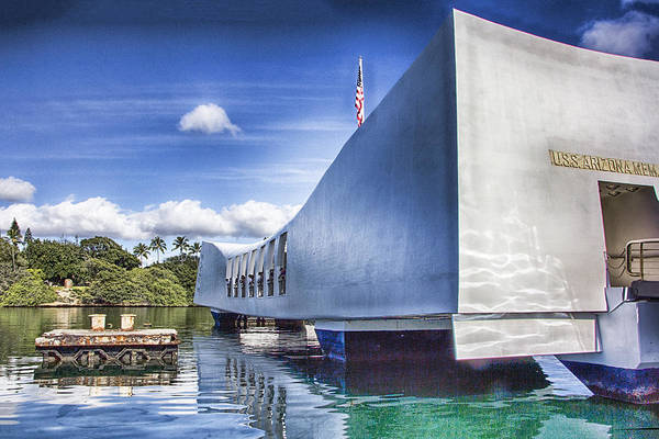 Uss Arizona Wall Art - Photograph - Uss Arizona Memorial- Pearl Harbor by Douglas Barnard
