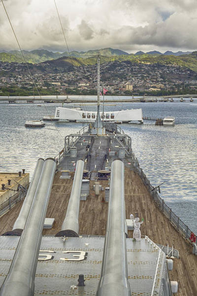 Uss Arizona Wall Art - Photograph - Uss Arizona Memorial-pearl Harbor V4 by Douglas Barnard