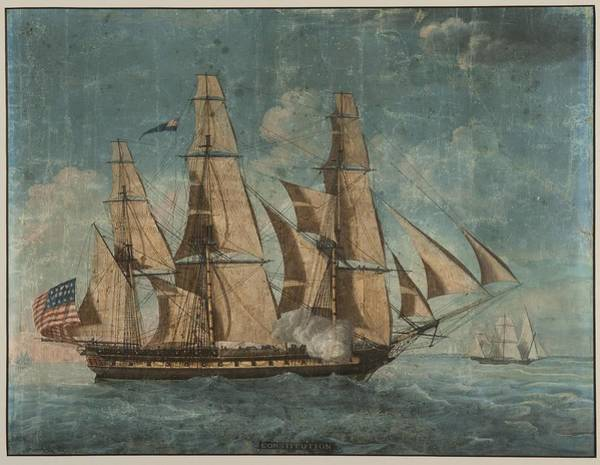 Wall Art - Painting - Uss Constitution 1803 by Celestial Images