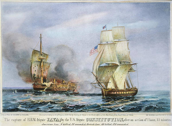 Wall Art - Painting - Uss Constitution Battle by Granger