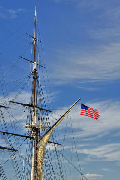 Wall Art - Photograph - Uss Constitution Mast by Joann Vitali