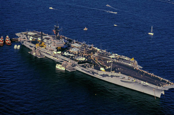 The Patriot Photograph - Uss Kennedy, New York Harbor, New York by Panoramic Images