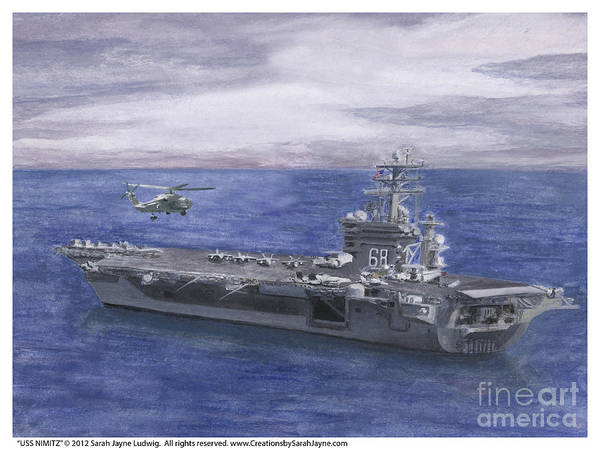 Wall Art - Painting - Uss Nimitz by Sarah Howland-Ludwig