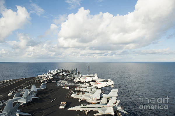 Flight Deck Photograph - Uss Nimitz Transits The South China Sea by Stocktrek Images