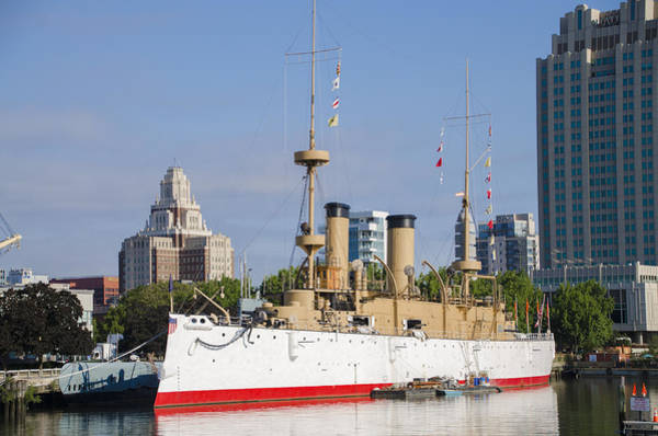 Photograph - Uss Olympia On The Delaware River - Philadelphia by Bill Cannon